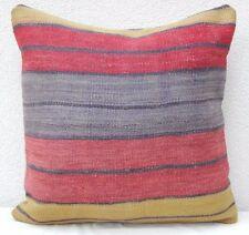 50X50 Cm 20'' X 20'' Faded Kilim Pillow Cover, Housse de Coussin,Cuscino Kilim