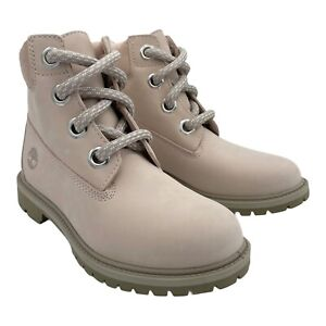 TIMBERLAND HERITAGE 6-INCH WATERPROOF LIGTH PINK NUBUCK WOMENS BOOTS US SIZE 7.5