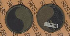 US Army 29th Infantry Division OD Green & Black BDU uniform patch m/e