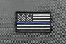 "Thin Blue Line United States Flag 3.5"" x 2"" Patch Police SWAT VELCRO® Brand"