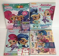 5pc Set Shimmer & Shine Jumbo Coloring Activity Colors Shape Paint Books Crayons