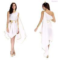 Women Cleopatra Egyptian Greek Roman Toga Goddess Halloween Costume Fancy Dress