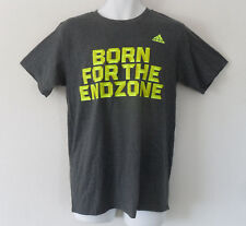 $22 New Adidas Men Gym Workout Football Born For The End Zone Shirt Gray Xl
