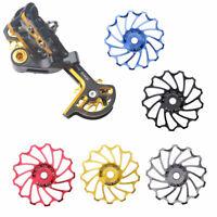 13T CNC MTB Bicycle Ceramic Bearing Jockey Wheel Rear Derailleur Pulley Parts