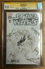Star Wars #1 Alex Ross Sketch Variant CGC SS 9.8 Signed Stan Lee