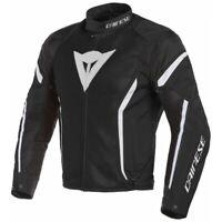 Veste Homme Dainese Air Chrono 2 Tex Noir Blanc Taille 58 Moto Perforé Été