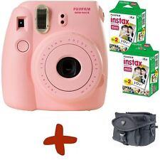 Bundle: Fuji Instax Mini 8 Pink Instant Film Camera+Case+40 Shots
