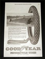 1920 OLD MAGAZINE PRINT AD, GOODYEAR MOTORCYCLE TIRES FOR ENDURANCE ROAD RACERS!