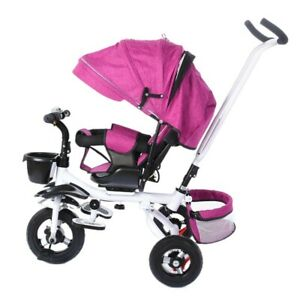 Baby Kids 5 in1 Trike Tricycle 3-Wheel Pedal Bike Girls Boys Push Along Stroller