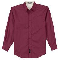 Port Authority Men's Big & Tall 3XL Long Sleeve Button Down Dress Shirt / New