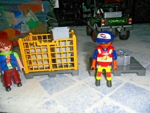Playmobil - Airport Workers / Couriers With Accessories
