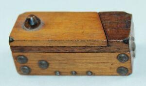 FOLK ART Puzzle Box ANTIQUE WOODEN Match Safe LOT N