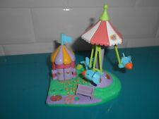 17.9.10.18 Polly pocket parc d'attraction Rocket ride Park vide 1996 cassé