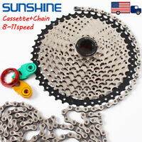 8 9 10 11Speed MTB Mountain Bike Cassette11-40/42/46/50T KMC Chain Derailleur