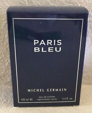PARIS BLEU By MICHEL GERMAIN 3.4 OZ EDT SPRAY MEN + A BONUS(SAMPLE): 2/LOT NEW !