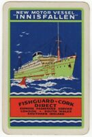 Playing Cards Single Card Old B&I LINE Shipping Advertising MV INNISFALLEN Ship