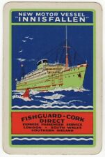 Playing Cards 1 Swap Card - Old Vintage B&I LINE Shipping M.V. INNISFALLEN Ship