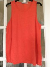 Women's Linen Silk Vest Designer T Alexander Wang In Orange Size Large BNWOT