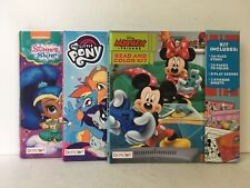 Set of Three Color and Activity Books- Mickey & Friends, Mlp, Shimmer & Shine
