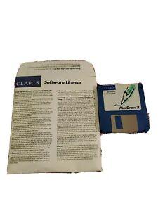 Apple Macintosh MacDraw II Claris Drawing Publishing Software 4 Floppy Discs Vtg