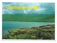 Lae, Papua New Guinea, Huon Gulf with Airstrip in Foreground Postcard 482S