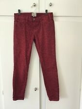 Current Elliot Red Leopard skinny print jeans 28