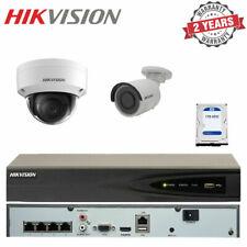 Hikvision 1x 4MP Dome 1x Mini Bullet CCTV Surveillance Camera & 4CH NVR Recorder