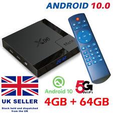 X96 MATE ANDROID 10.0 TV BOX 4GB+64GB QUAD CORE 4K HD MEDIA PLAYER WIFI HDMI UK