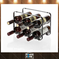 2 Tier Kitchen Tabletop Wine Storage Rack Stackable Modular 6 Bottles Bronze