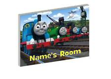 THOMAS THE TANK ENGINE AND FRIENDS PERSONALISED WOODEN DOOR PLAQUE
