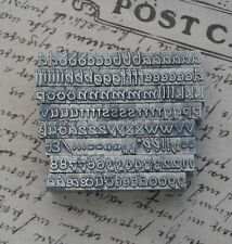 Alphabet Bleilettern Letter Druckbuchstaben Lettern Vintage Stempel Bleiletter´'