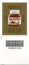 2014 francobollo Nutella Ferrero 50° Anniversario SX CODICE A BARRE 1592