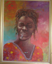 Painting by Late Haitian Master Moab Poliddor