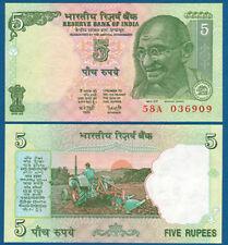 INDIEN / INDIA 5 Rupees  UNC  P.88A
