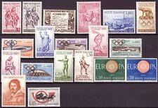 1960 Italia Annata Completa Nuovi Come Unificato 19 Valori MNH Integri