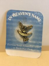 "Personalized Pewter Pin/Brooch In Heaven's Name Guardian Angel ""Best Friend"""