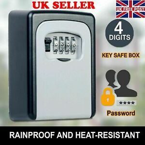 Outdoor High Security Wall Mounted Key Safe Box Code Lock Storage 4 Digit UK