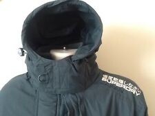 SUPERDRY JAPAN THE WINDCHEATER FLEECE LINED  HOODED JACKET 3 ZIP SIZE XL VGC
