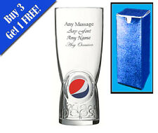 Personalised Engraved Pepsi Glass Birthday Wedding Usher Xmas Gift Best Man