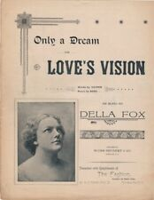Only a Dream or Love's Vision, Gloversville, NY Store Give-away  1890's