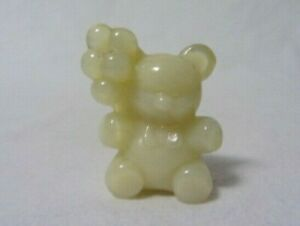 BOYD GLASS SHASTA WHITE PATRICK BALLOON  BEAR FIGURINE B IN DIAMOND