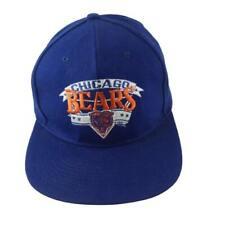 Chicago Bears NFL Football Snapback Hat Blue Wool Blend
