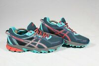 Asics Gel-Sonoma 2 Womens Blue Pink Athletic Running Shoes Size 10 T684N