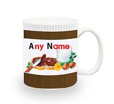 PERSONALISED - NUTELLA Mug Present Birthday Cup Coffee Tea Chocolate Gift XMAS