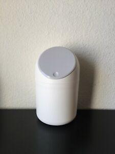 Lotsa Style Plastic Mini Wastebasket Trash Can with Push Lid Bathroom Kitchen