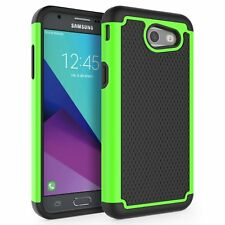 Samsung Galaxy J3 Prime Mission Shockproof Defender Phone Case Cover Green New