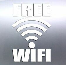 Free wifi sticker 160x100 mm vinyl cut no background any colour coffee shop net