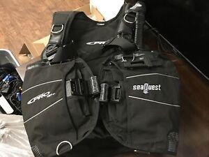 SeaQuest Pro QD+ (Plus) Size: L -- Scuba Diving Vest - Used Condition -- CV490