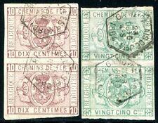 BELGIEN EISENBAHNPAKET 1879 1,3U UNGEZÄHNTE PAARE (S1510