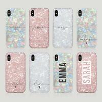 Personalised Iphone Case Soft Iridescent Rainbow Magic Holographic Sparkle Opal